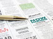 """Постер, картина, фотообои """"Ручка на газете"""""""