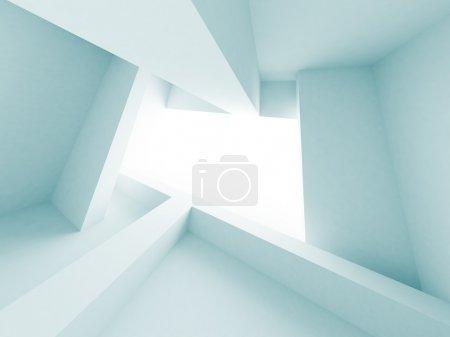 Photo pour Illustration 3D de la construction de bâtiments abstraits bleus - image libre de droit