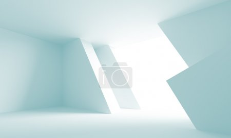 Foto de Ilustración 3D de fondo azul arquitectura futurista - Imagen libre de derechos