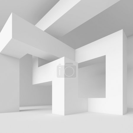 Photo for 3d Illustration of White Abstract Architecture Wallpaper - Royalty Free Image