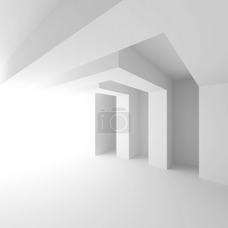 Photo for 3d Illustration of White Abstract Architecture Background - Royalty Free Image