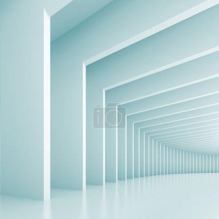 Photo pour Illustration 3D de l'architecture abstraite bleue Contexte - image libre de droit