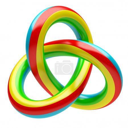Photo pour Illustration 3D de forme abstraite isolé sur fond blanc - image libre de droit