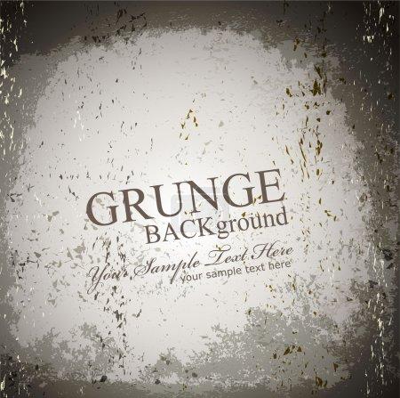 Vector grunge gray background
