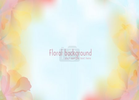 Illustration for Vector background with a delicate flower petals - Royalty Free Image