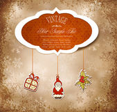 Vintage grungy New Year Christmas background