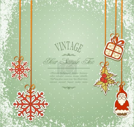 Vintage, grungy New Year, Christmas background