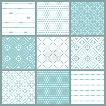 Illustration for Seamless backgrounds Collection - Vintage Tile - Royalty Free Image