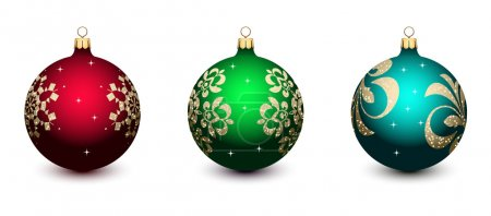 Illustration for Christmas decorations on a white background - Royalty Free Image