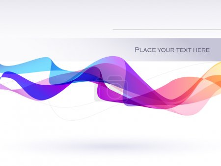 Illustration for Wavy background with colorful lines - Royalty Free Image