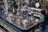 Starožitný stříbrný čajová sada
