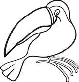 Cartoon toucan for coloring book
