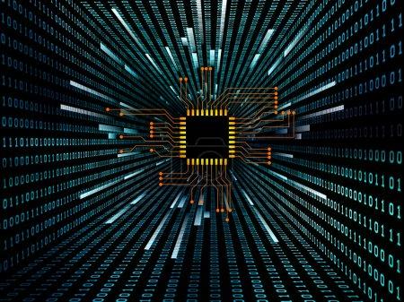 Photo pour Jeu de circuit numérique et graphique de numéro sur le thème de l'électronique, des ordinateurs, des communications et des technologies modernes. - image libre de droit