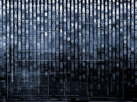 Number Matrix Background