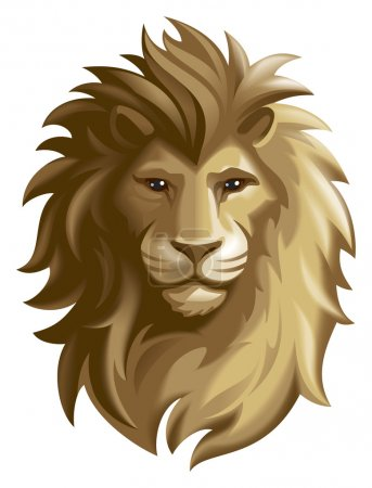 Lion. Mask or icon