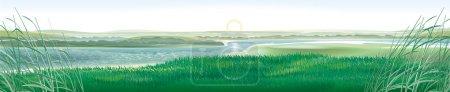 Photo pour Rivière russe Don. Modification panoramique des travaux antérieurs - image libre de droit