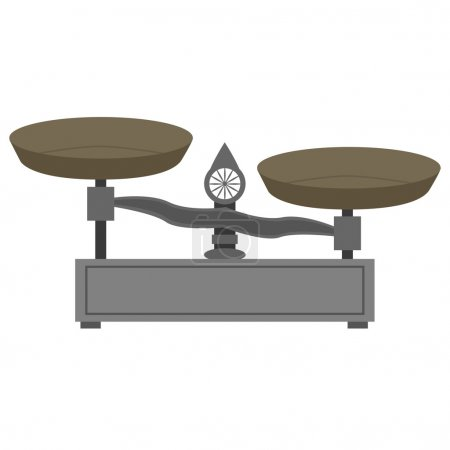 Illustration for Illustration of a vintage style metal scale - Royalty Free Image