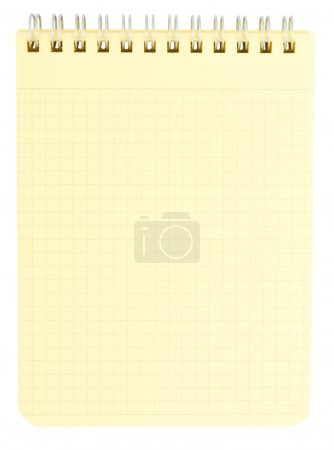 Photo for Yellow notepad isolated on white background - Royalty Free Image