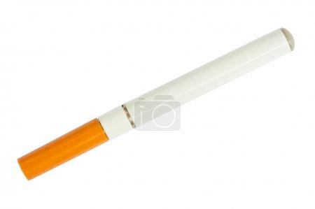 Foto de Vista de cigarrillo electrónico superior aislado sobre fondo blanco - Imagen libre de derechos