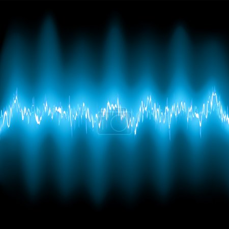 Abstract blue glow Frequency Waveforms. EPS 8