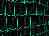 Heartbeat on a black monitor EPS 8 vector file included