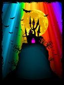 Halloween Bild mit alten Herrenhaus. EPS 8