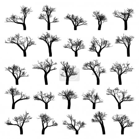 Spooky tree silhouette vector isolated. EPS 8