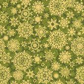 Zelený vánoční vzor se sněhové vločky. EPS 8