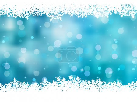 Blue background with snowflakes. EPS 8