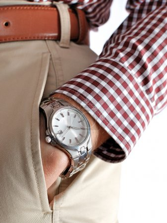 Wrist watch on hand