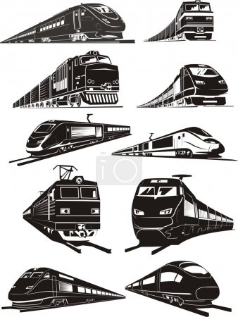 Train silhouettes