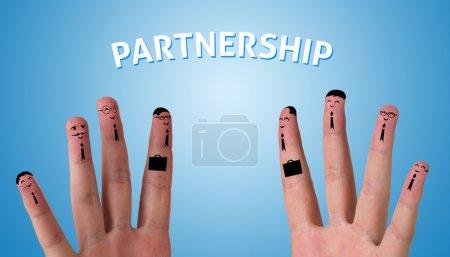 Photo pour Doigts abstraits ayant affaire (partenariat ) - image libre de droit