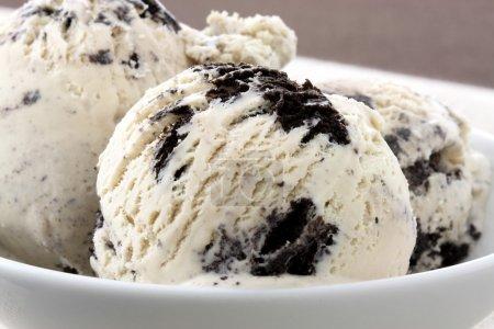 Delicious cookies and cream ice cream