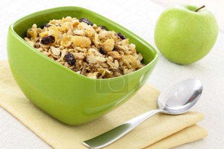 Healthy muesli breakfast