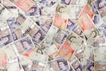 British Pounds background