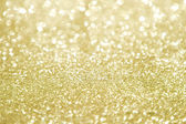 Gold glitter with selective focus