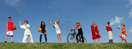 Photo for Group of sports kids - Royalty Free Image