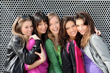 Photo for Diverse group of teens girls - Royalty Free Image