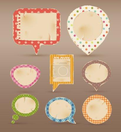 Illustration pour Vintage bulles colorées pour les discours. illustration vectorielle - image libre de droit