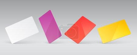Illustration pour Modèle vectoriel pour la présentation de cartes plastiques - image libre de droit