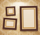 Wooden frames on the wal