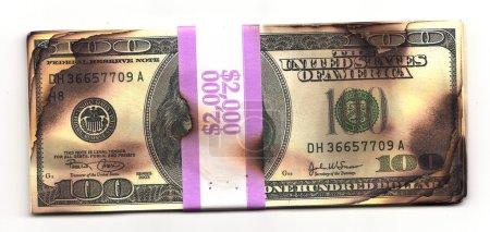 Burned money