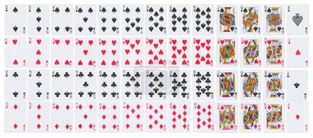 Photo for Full deck of playing cards isolated on white - Royalty Free Image