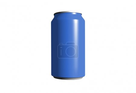 Transparent metal tin with mineral water