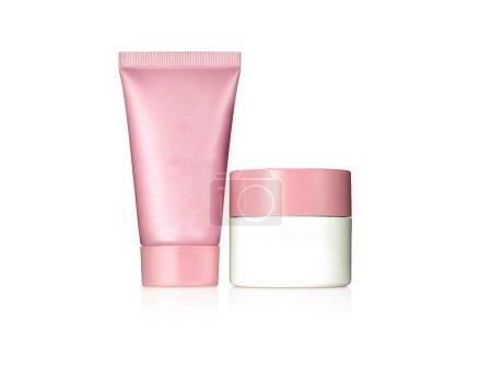 Photo pour Les produits cosmétiques, avec aucune marque, vous pouvez écrire votre propre marque sur elle. - image libre de droit