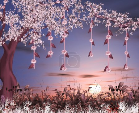 Enchanted nature series - cherry blossom garden
