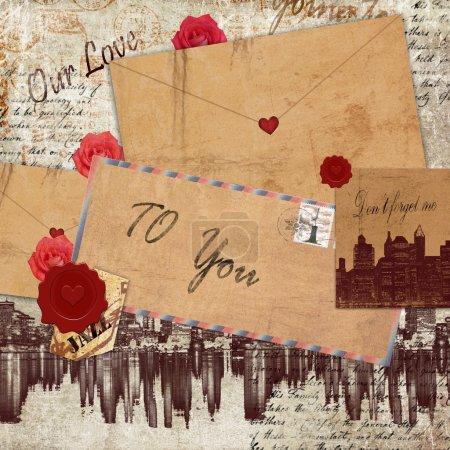 Foto de Dibujo recuerdos de amor - Imagen libre de derechos