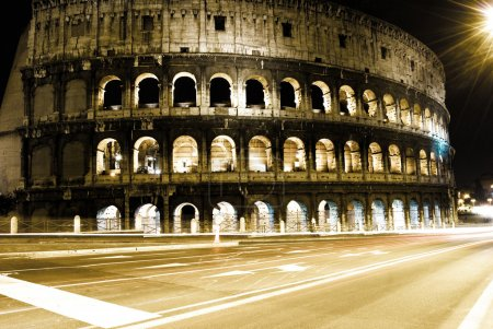 Roman Coliseum by night