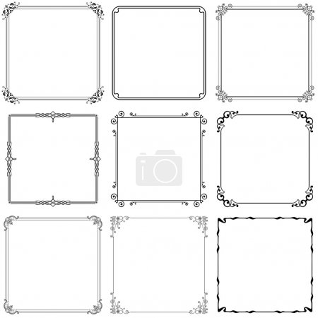 Photo for Some ornate black frames on white - Royalty Free Image
