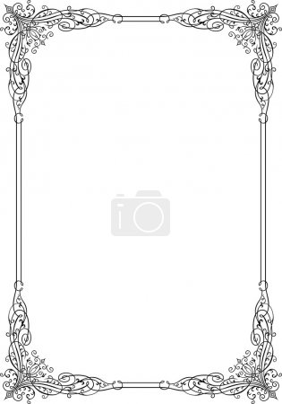 Photo for Vector decorative frame on white background - Royalty Free Image